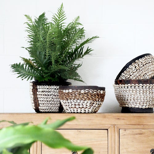 Image of Hauser Vintage Shell Basket