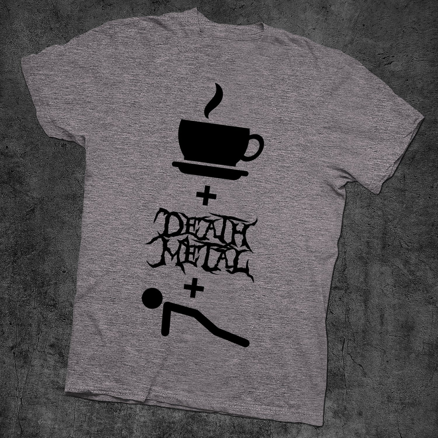 Image of COFFEE DEATH METAL AND PUSH UPS - NEW CHARCOAL