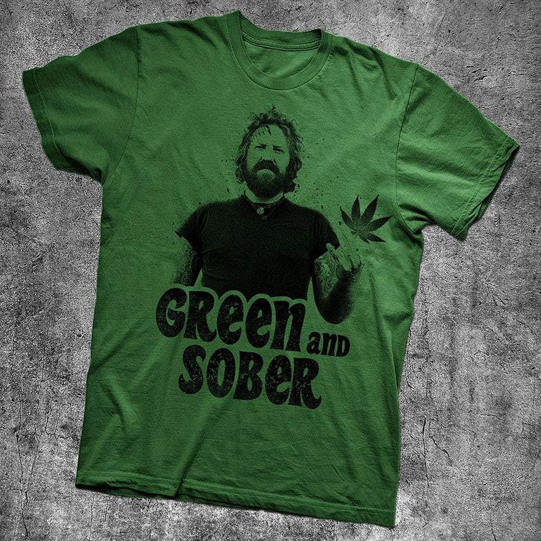 Image of GREEN & SOBER - BRENT HINDS TRIBUTE SHIRT - GREEN
