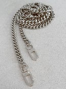 "Image of NICKEL Chain Bag Strap - NEW Classy Curb Diamond Cut Chain - 3/8"" Wide - Choose Length & Hook Style"