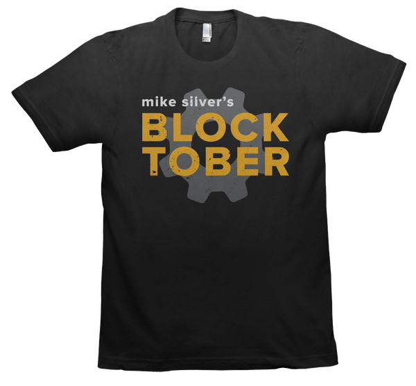 Image of Mike Silver BLOCKtober T-Shirt - BLACK