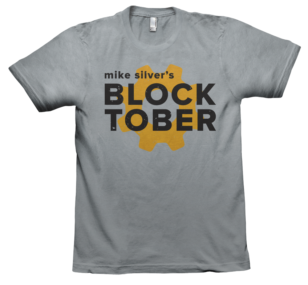 Image of Mike Silver BLOCKtober T-Shirt - GRAY