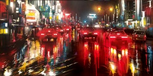 Image of > SOLD < 'Neon Street' - original acrylic painting on canvas