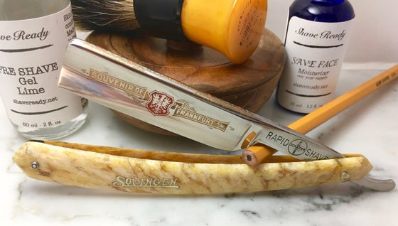 Image of Schafer Souvenir of Frankfurt Shave Ready Straight Razor