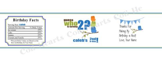 Water Bottle Labels 5 per sheet Coli Hearts – Sample Water Bottle Label