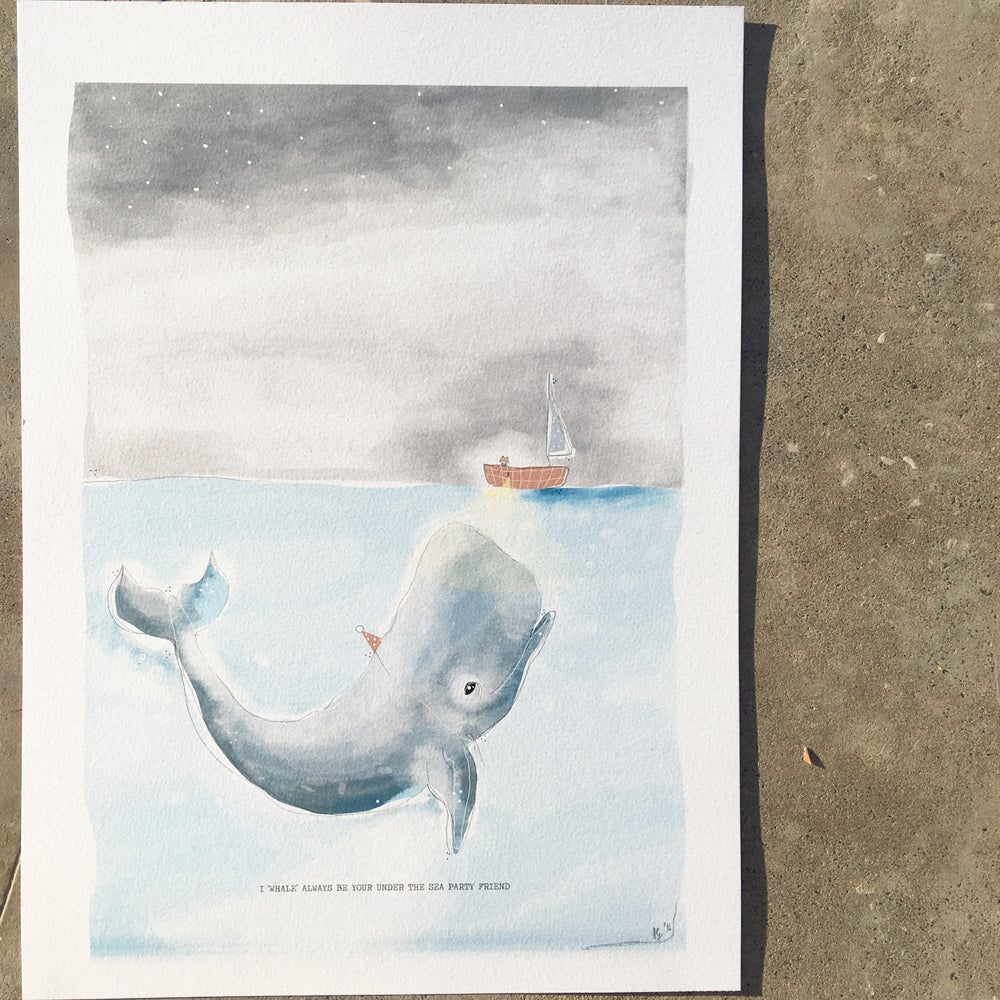 Image of ART PRIN | MY WHALE, MY FRIEND