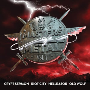 Image of V/A (CRYPT SERMON - RIOT CITY - HELLRAZOR - OLD WOLF) - Masters Of Metal: Volume 1