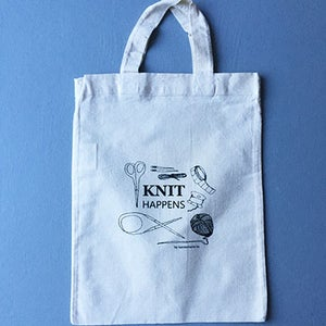 Image of KNIT HAPPENS totebag
