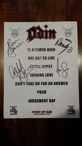 Image of Odin Signed Hair Nation Festival Set List