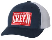 Image of Navy William Clark Green Red Patch trucker hat