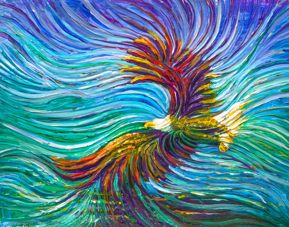 Image of Spirit Eagle Energy Painting - Giclee Print