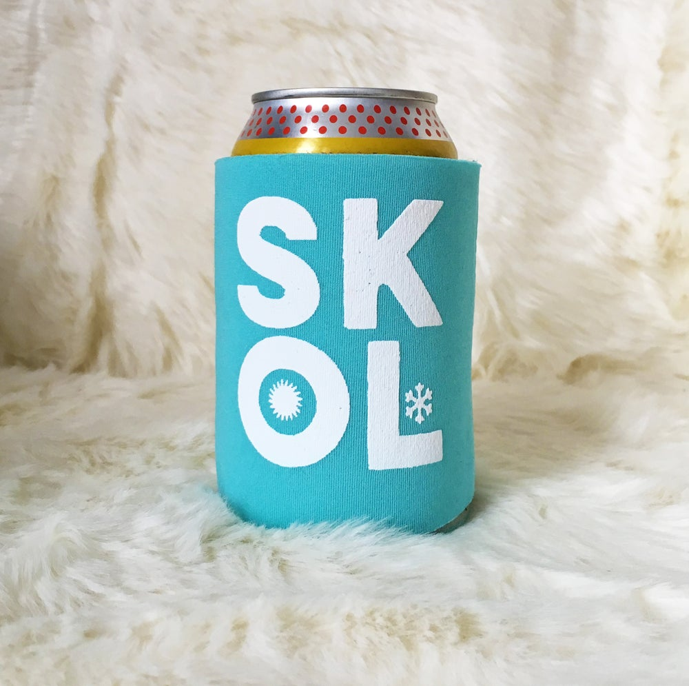 Image of SKOL screen-printed can cooler-4 color choices