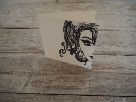 Image of Amy Self-Portrait Greetings Card