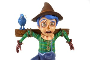 """Image of """"The Scarecrow"""" Designer Toy, 10'' Figurine (Signed and Sketched Version)"""