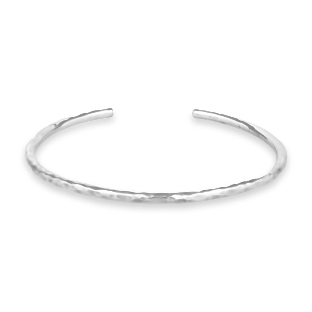 Image of Hammered Cuff Bracelet - Sterling Silver