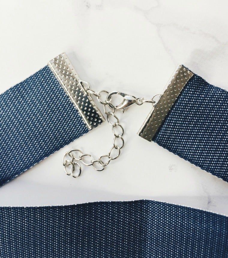 Image of Thick Denim Choker