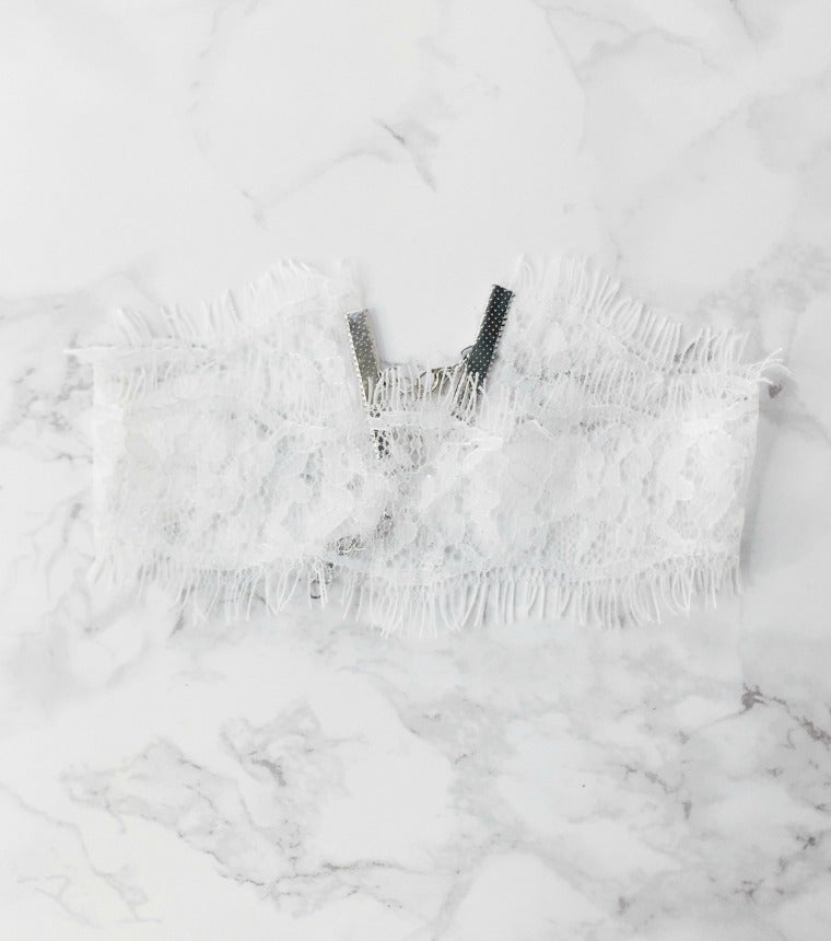 Image of White Lace Choker