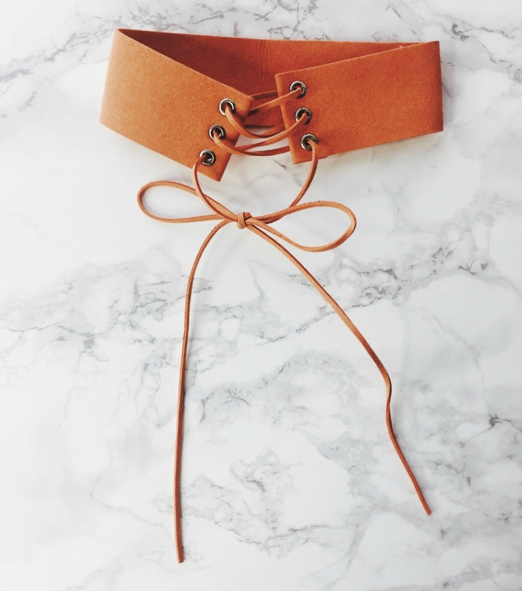 Image of Burnt Orange Laced Choker
