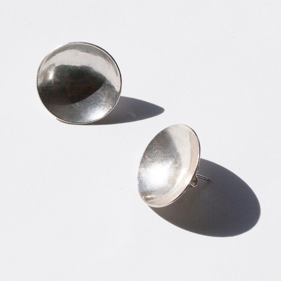 Image of Sterling Silver Cup Earrings