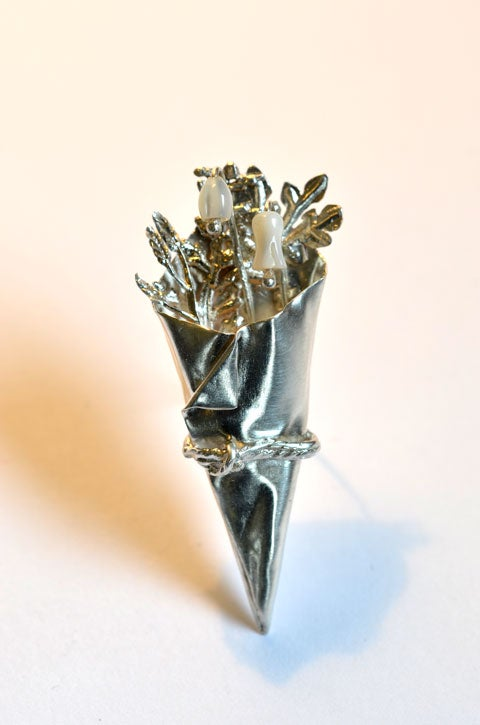 Image of Lily of the Valley posy brooch