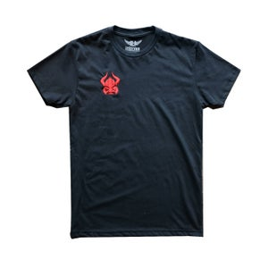Image of Stitched Viking Tee (Black/Red)