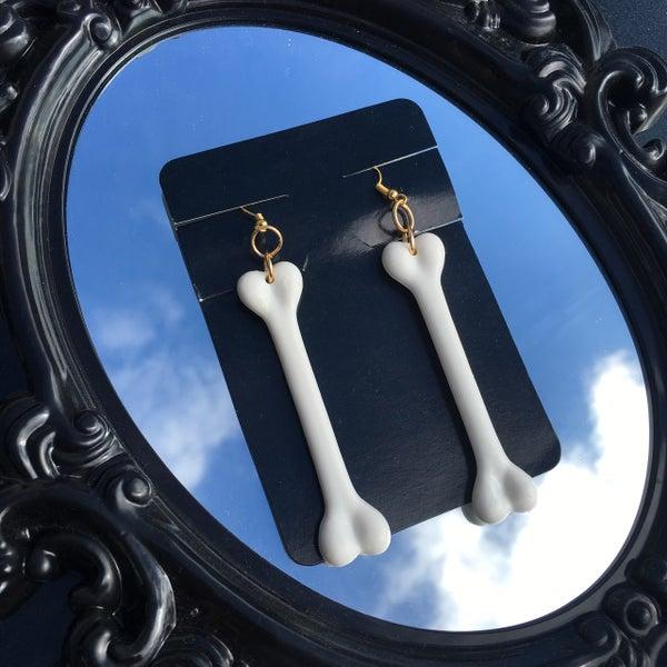 Image of Skeleton Bone Earrings