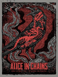 Image of Alice In Chains 2016 Poster Grey Show Edition