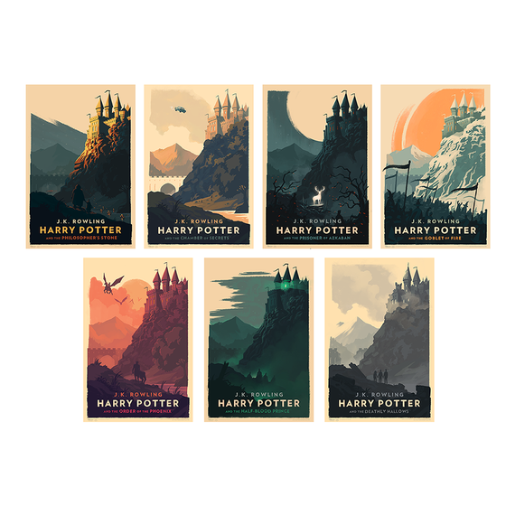 Image of Harry Potter Print Set