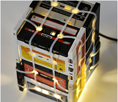 Image of SMALL CASSETTE TAPES LAMP (Transparent)