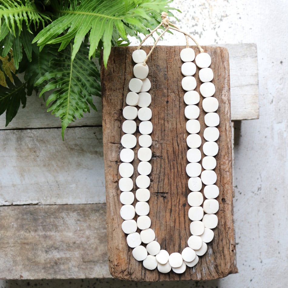 Image of White Button Bone Necklace