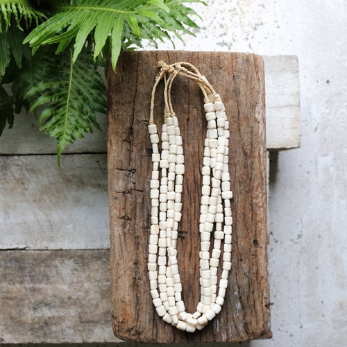Image of Pebble Bone Necklace
