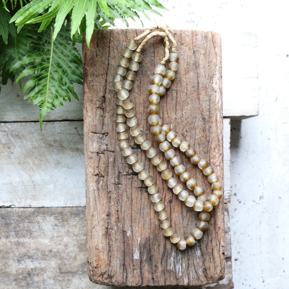 Image of Two Tone Glass Bead Necklace