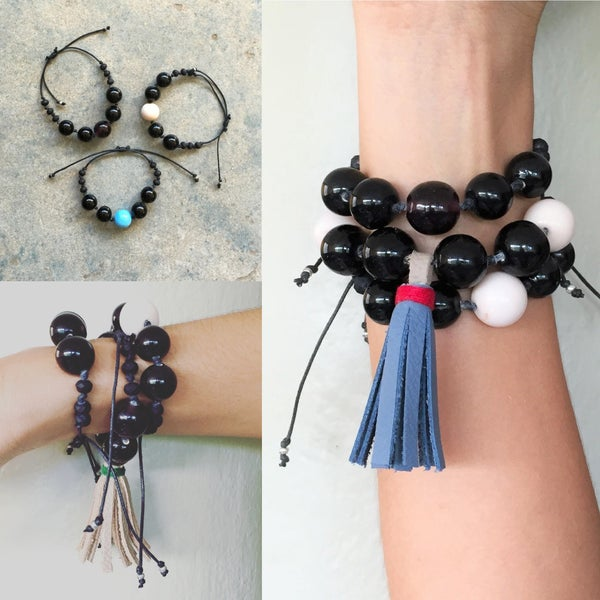 Image of BC Tassel Bracelet & Stack Bracelet