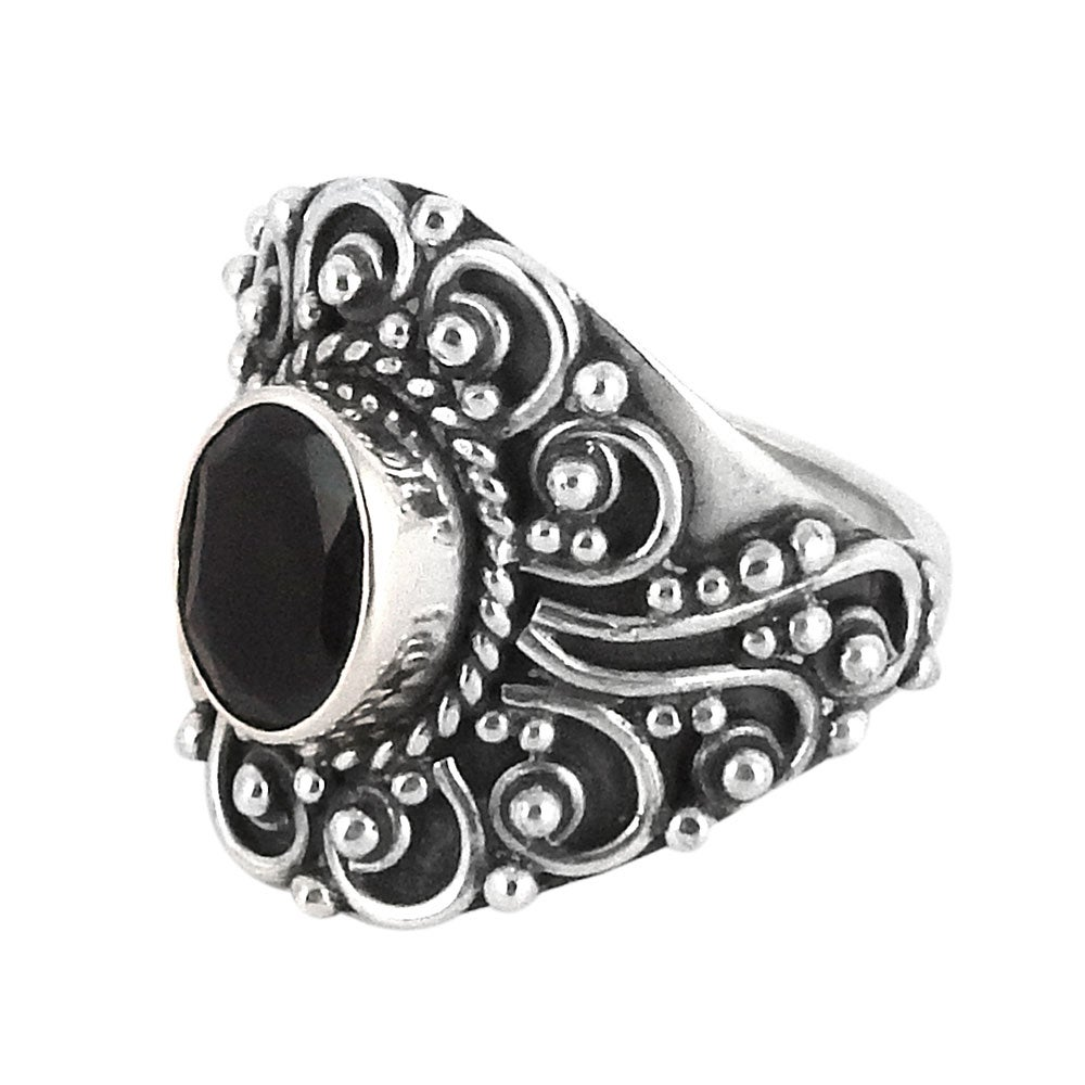 Image of Sterling Silver & Black Onyx Lydia Ring