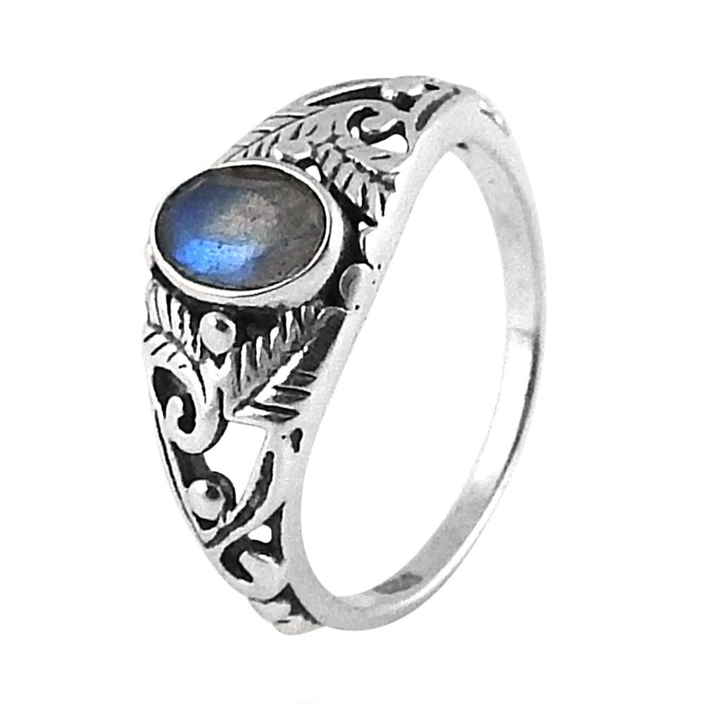 Image of Sterling Silver & Labradorite Secret Garden Ring