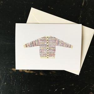 Image of XO sweater greeting card