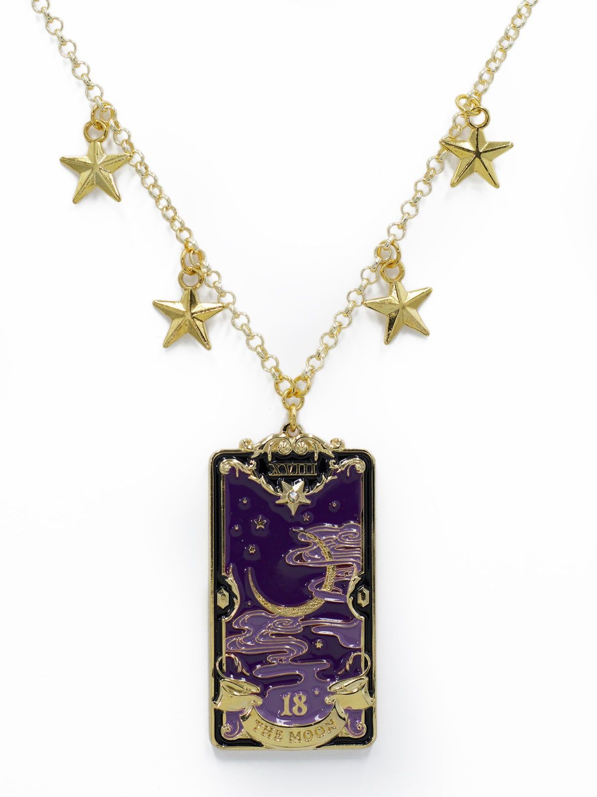 Image of The Moon Necklace · Purple