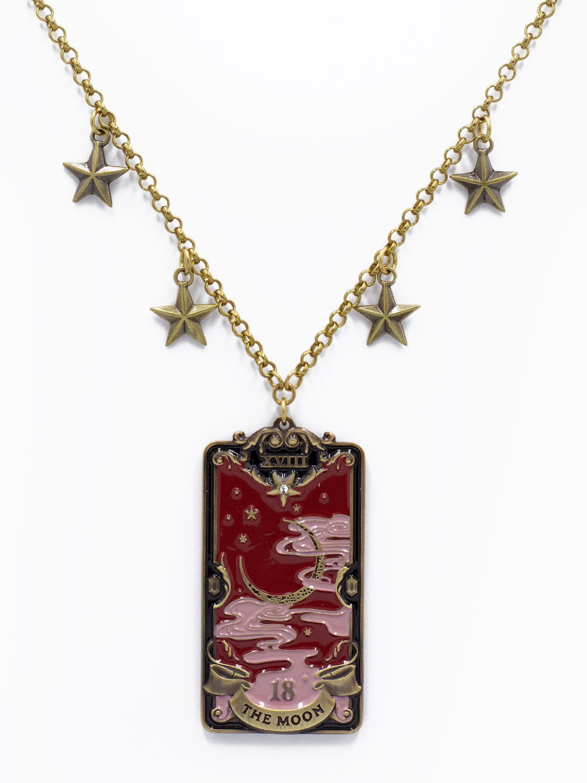 Image of The Moon Necklace · Wine