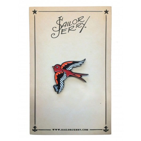 Image of Sailor Jerry 'Swallow' Pin