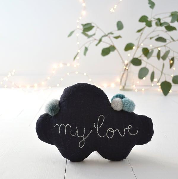 """Image of Nuage """"my love"""" noir bleuté"""