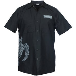 Image of Tatau Turtle Work Shirt Black/Grey