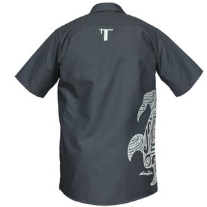 Image of Tatau Turtle Work Shirt Charcoal/Grey