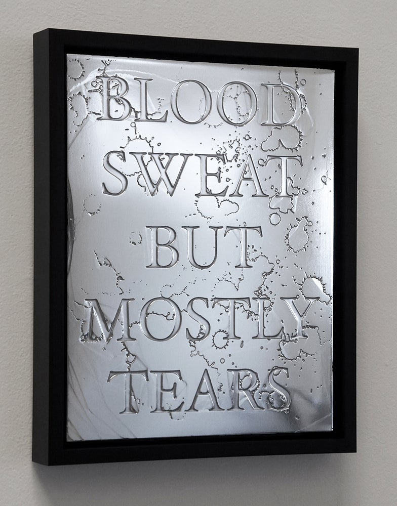 """Image of """"Blood, Sweat But Mostly Tears, 2016"""" - Acid Etched Zinc Plate - Edition of 5"""