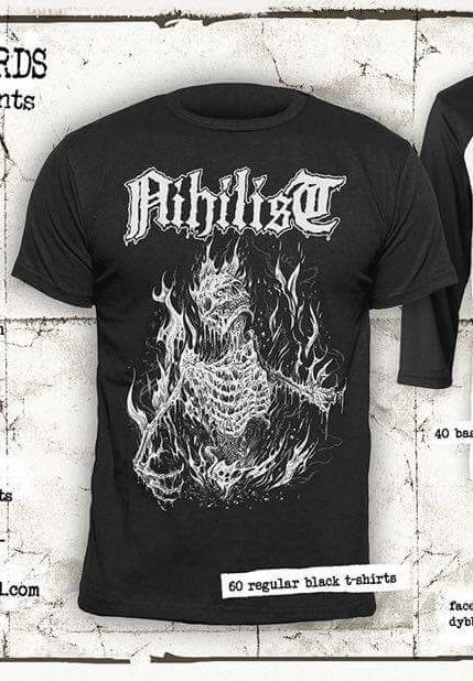 Image of Nihilist - Severe burn official black Tshirt. (Pre-order).
