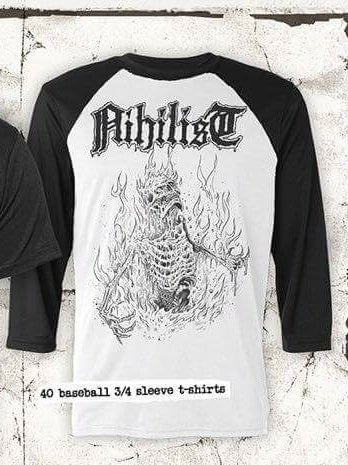 Image of Nihilist - Severe burn official baseball - Tshirt.(pre-order)