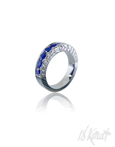 Alex's Sapphire Wedding Band - 18Karat Studio+Gallery