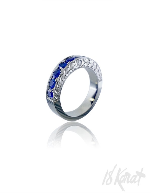 Alex's Sapphire Wedding Band - 18Karat Studio+Gallery