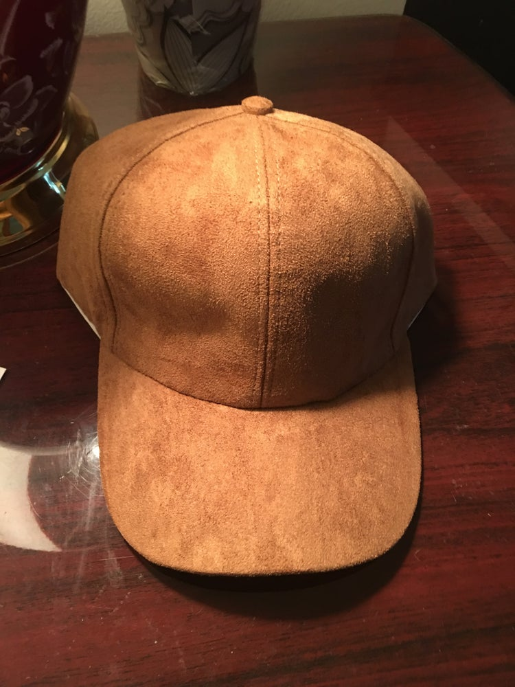 Image of Faux Suede Baseball Cap