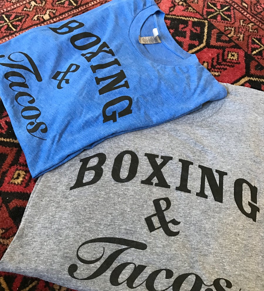 Image of Women's boxing & tacos crewneck tees (3 colors)