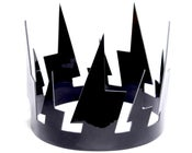 Image of Patent leather lightning crown
